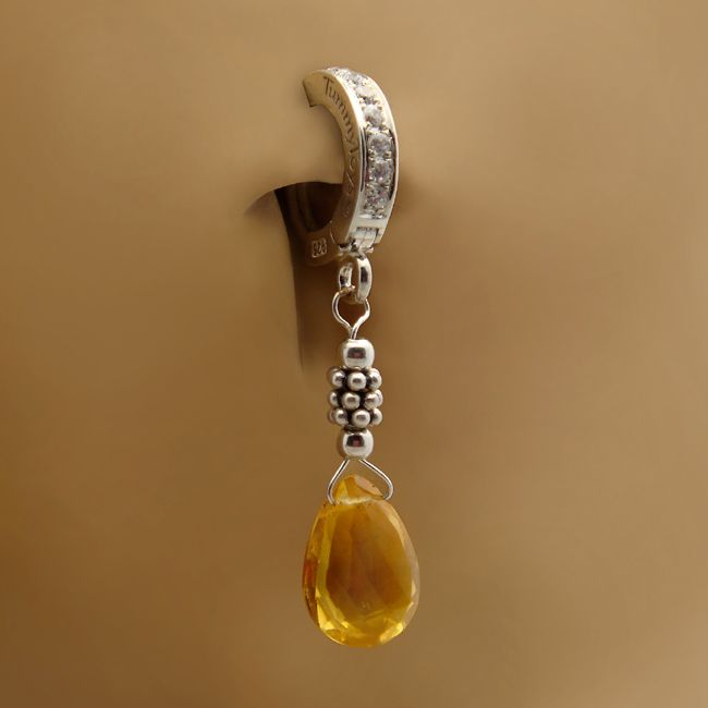 tummytoys 174 citrine and silver belly ring belly bars