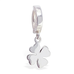 TummyToys® 925 Silver Clover Navel Ring