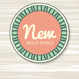 Look what's new in belly button rings!