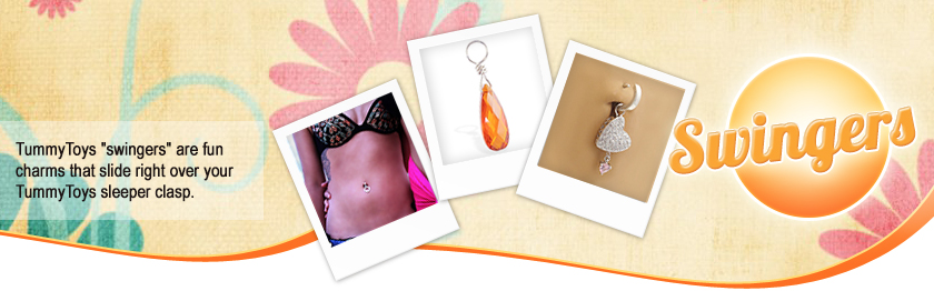 Have a TummyToys clasp? Now you can start collecting TummyToys Swingers, interchangeable jewellery for your clasp.